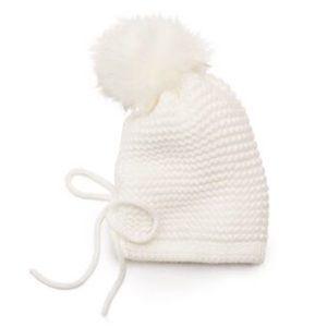 JUICY COUTURE Hat Winter White Hat Faux Fur PomPom